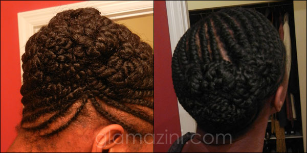 Flat Twisted Updo On Natural Hair