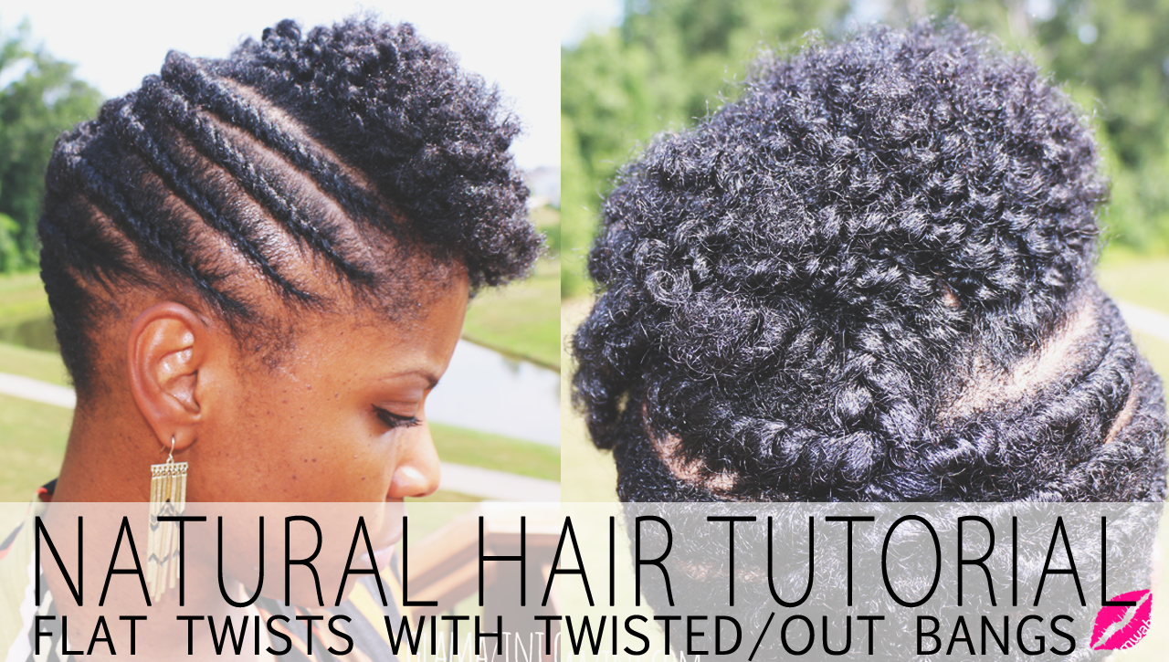 Flat Twistout Updo W Twisted Bangs Natural Hairstyle